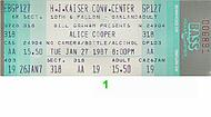 Alice Cooper 1980s Ticket