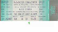 Alice Cooper1980s Ticket