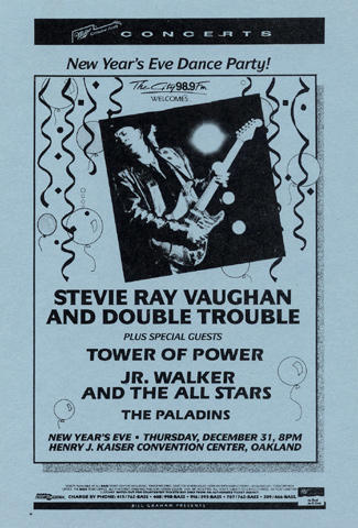 Stevie Ray Vaughan & Double Trouble Handbill