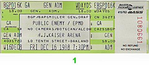 Public Enemy Vintage Ticket