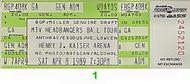 Anthrax 1980s Ticket