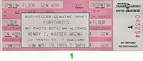 EurythmicsVintage Ticket