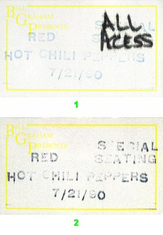 Red Hot Chili PeppersBackstage Pass