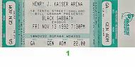 Black Sabbath1990s Ticket