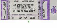 Burning Spear 1990s Ticket