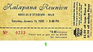 Kalapana 1980s Ticket