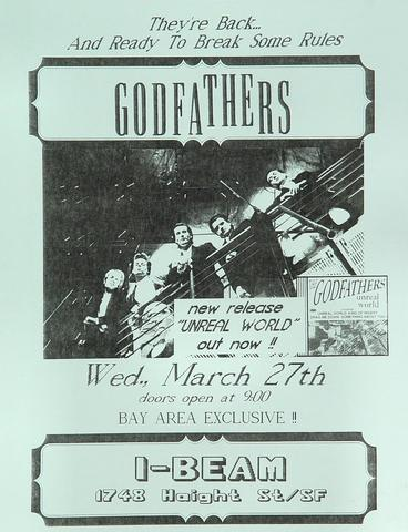The Godfathers Handbill