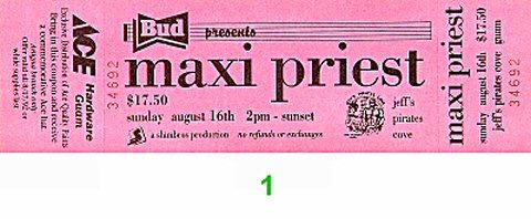 Maxi Priest Vintage Ticket