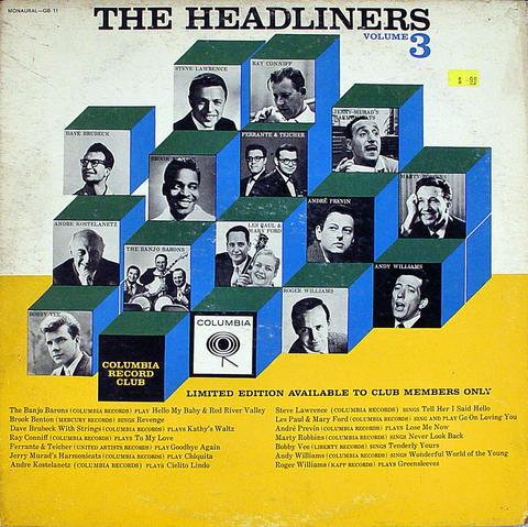 "The Headliners Volume 3 Vinyl 12"" (Used)"