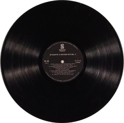 "20 Country & Western Hits Vol. 4 Vinyl 12"" (Used)"