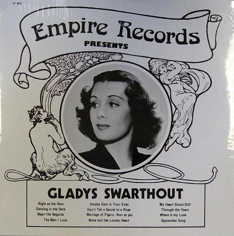 """Gladys Swarthout Vinyl 12"""" (New)"""
