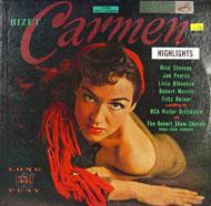 """Bizet: Highlights From Carmen Vinyl 12"""" (Used)"""