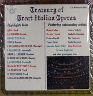 "Treasury Of Great Italian Operas Vinyl 12"" (New)"