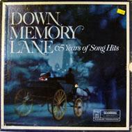 """Down Memory Lane: 65 Years Of Song Hits Vinyl 12"""" (Used)"""