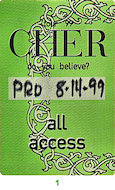 Cher Backstage Pass