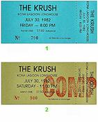 The Krush1980s Ticket