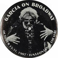 Jerry Garcia Vintage Pin from Oct 15, 1987