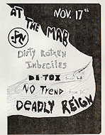 Dirty Rotten ImbecilesHandbill
