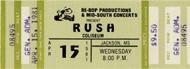 Rush1980s Ticket