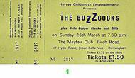Buzzcocks1970s Ticket
