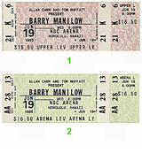 Barry Manilow 1980s Ticket