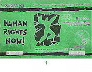 Amnesty International Benefit Vintage Ticket