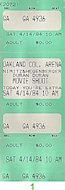 Duran Duran Vintage Ticket