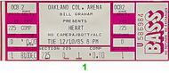 Heart 1980s Ticket