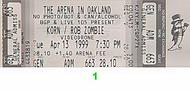Korn 1990s Ticket