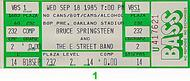 Bruce Springsteen &amp; the E Street Band1980s Ticket