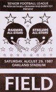 Raiders-Steelers Backstage Pass