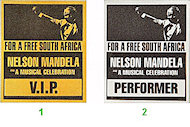 Nelson MandelaBackstage Pass