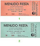 Menudo1980s Ticket