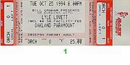 Lyle Lovett 1990s Ticket