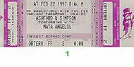 Ashford and Simpson 1990s Ticket