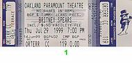 Britney Spears 1990s Ticket