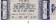 Social Distortion1990s Ticket