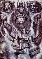 H.R. Giger Paintings and Prints Postcard