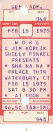Sha Na Na1970s Ticket