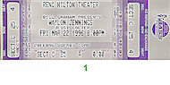 Waylon Jennings Vintage Ticket