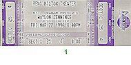 Waylon Jennings Vintage Ticket