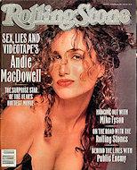 Andie MacdowellRolling Stone Magazine