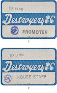 George Thorogood & The Delaware Destroyers Backstage Pass