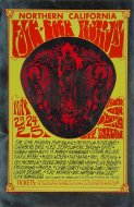 Northern California Folk-Rock Festival Handbill