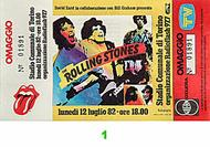 The Rolling Stones 1980s Ticket