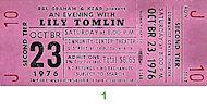 Lily TomlinVintage Ticket