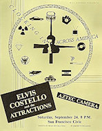 Elvis Costello & the Attractions Handbill