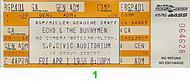 Echo & the Bunnymen1980s Ticket