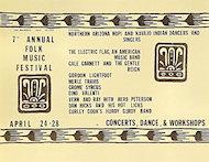 Folk Music Festival Handbill