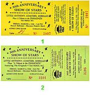 Little Anthony 1980s Ticket